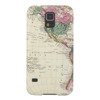 Map of Western Hemisphere Cases For Galaxy S5