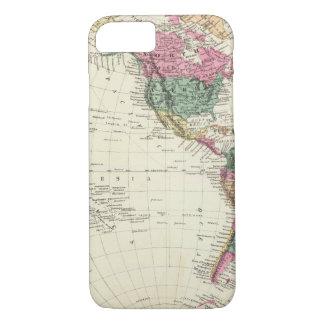 Map of Western Hemisphere iPhone 8/7 Case