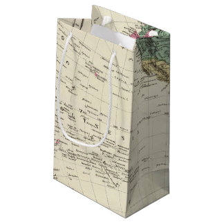 Map of Western Hemisphere Small Gift Bag
