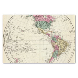 Map of Western Hemisphere Tissue Paper