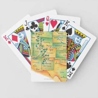 Map of Western United States Bicycle Playing Cards