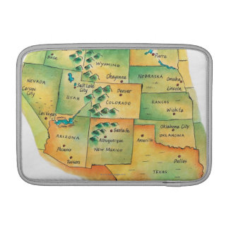 Map of Western United States MacBook Air Sleeve
