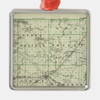 Map of White County Christmas Ornament