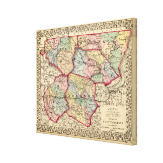 Map of Winfield, West Virginia Canvas Print