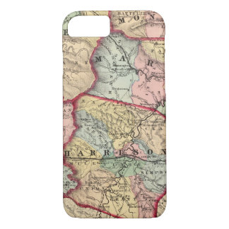 Map of Winfield, West Virginia iPhone 8/7 Case