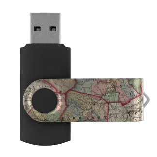 Map of Winfield, West Virginia USB Flash Drive