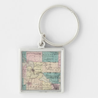 Map of Winnebago County, State of Wisconsin Key Ring