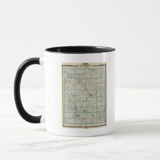 Map of Winneshiek County, State of Iowa Mug
