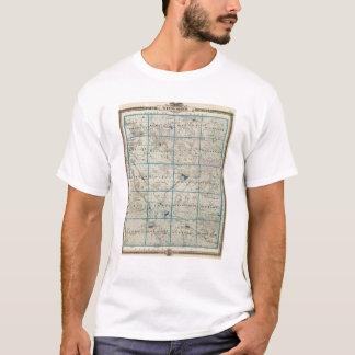 Map of Winneshiek County, State of Iowa T-Shirt