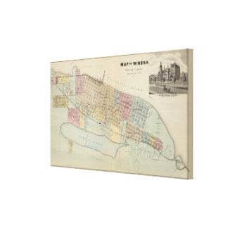 Map of Winona, Minnesota Canvas Print