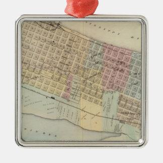 Map of Winona, Minnesota Christmas Ornament
