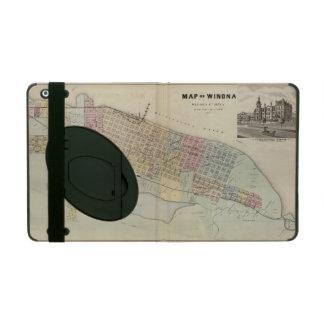 Map of Winona, Minnesota iPad Folio Case