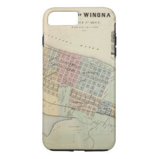 Map of Winona, Minnesota iPhone 8 Plus/7 Plus Case