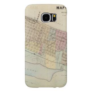 Map of Winona, Minnesota Samsung Galaxy S6 Cases