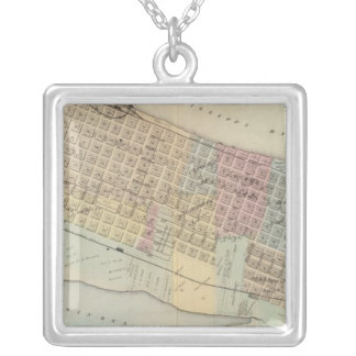 Map of Winona, Minnesota Silver Plated Necklace