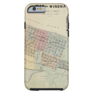 Map of Winona, Minnesota Tough iPhone 6 Case