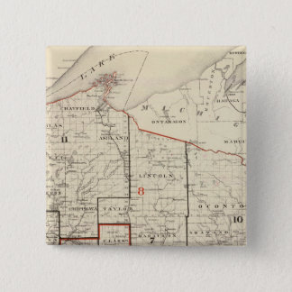 Map of Wisconsin 15 Cm Square Badge