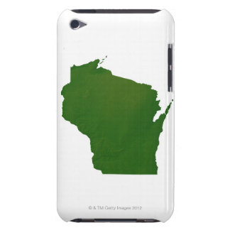 Map of Wisconsin Barely There iPod Cover