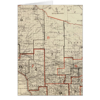 Map of Wisconsin Card