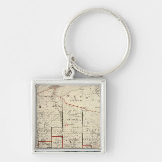 Map of Wisconsin Key Ring