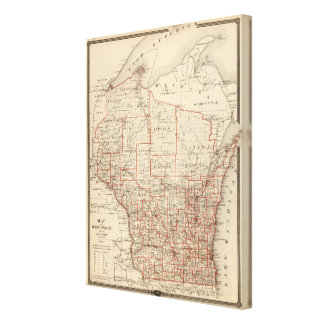 Map of Wisconsin, showing assembly districts Gallery Wrapped Canvas