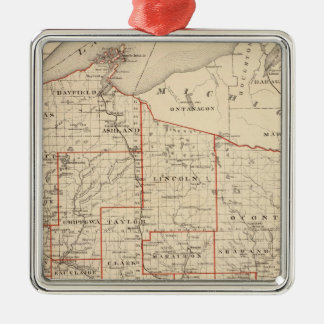 Map of Wisconsin, showing assembly districts Silver-Colored Square Decoration