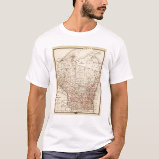 Map of Wisconsin, showing assembly districts T-Shirt