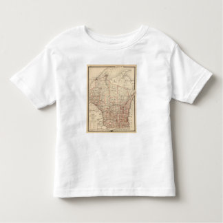 Map of Wisconsin, showing assembly districts Toddler T-Shirt