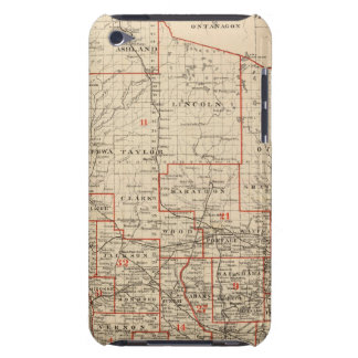 Map of Wisconsin showing senatorial districts iPod Case-Mate Cases