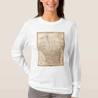 Map of Wisconsin showing senatorial districts T-Shirt