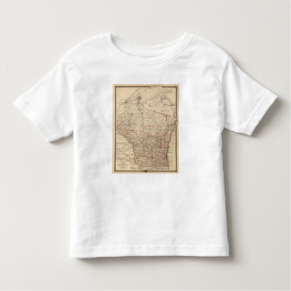 Map of Wisconsin showing senatorial districts Toddler T-Shirt