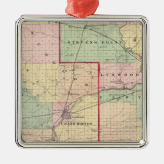 Map of Wood and Portage counties Christmas Ornament