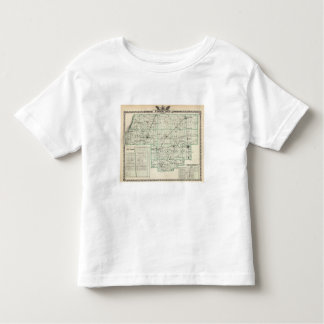 Map of Woodford County, El Paso and Metamora Toddler T-Shirt