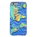Map of world barely there iPhone 6 case