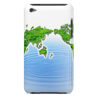 Map of world floating on water Case-Mate iPod touch case