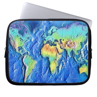 Map of world laptop sleeve