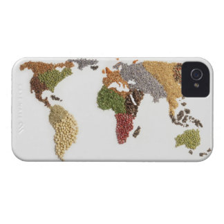 Map of world made of various seeds Case-Mate iPhone 4 cases