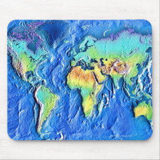 Map of world mouse mat