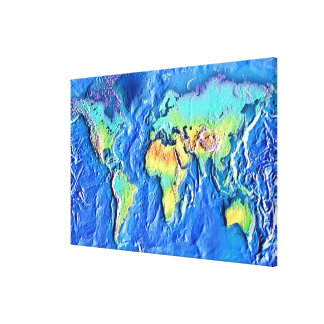 Map of world stretched canvas print