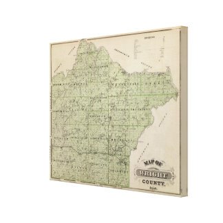 Map of Wright County, Minnesota Canvas Print