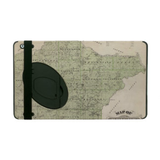 Map of Wright County, Minnesota iPad Folio Case