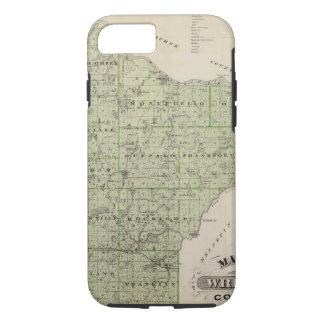 Map of Wright County, Minnesota iPhone 8/7 Case