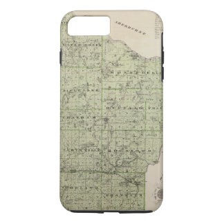 Map of Wright County, Minnesota iPhone 8 Plus/7 Plus Case