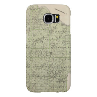 Map of Wright County, Minnesota Samsung Galaxy S6 Cases