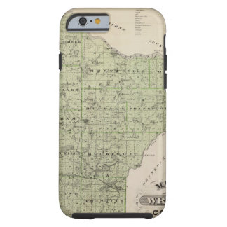 Map of Wright County, Minnesota Tough iPhone 6 Case