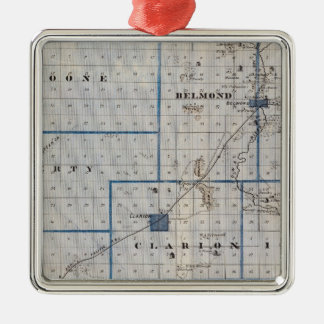 Map of Wright County, State of Iowa Christmas Ornament
