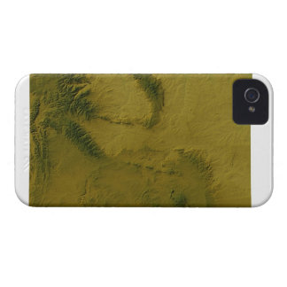 Map of Wyoming 2 iPhone 4 Cover