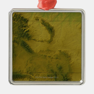 Map of Wyoming Christmas Ornament