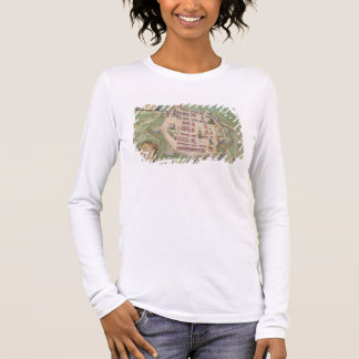 Map of Zamosc, from 'Civitates Orbis Terrarum' by Long Sleeve T-Shirt