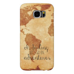 Map Oh Darling, Let's Go on Adventures Phone Case Samsung Galaxy S6 Cases
